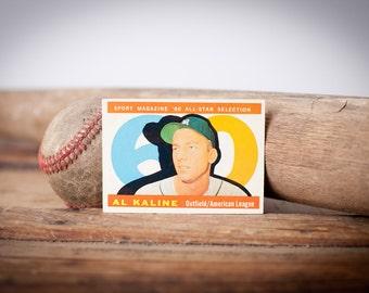 Vintage 60s Topps Al Kaline All Star Baseball Trading Card, BV 60.00