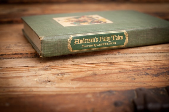Vintage 1945 Hans Christian Andersen's Fairy Tales, Illustrated Antique HC Book