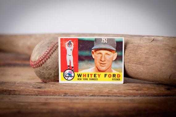 Vintage 1960 Topps Whitey Ford Baseball Trading Card, BV 50.00