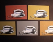 3 Coffee Cup Cards & Envelopes
