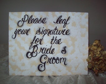 Wedding Signature Guest Instructions