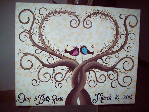 Wedding guest book thumbprint tree.....22 x 28.....200-275 Guests