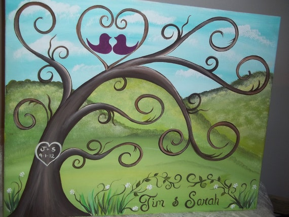 Wedding guest book thumbprint Tree.....125-175 guests.....For the Mountain Lovers