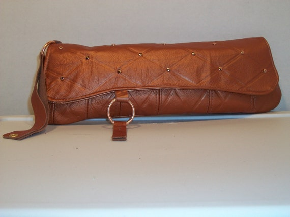 Copper Leather Clutch (Ready to Ship)