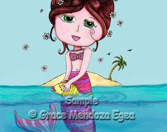 Andrea Mermaid Print