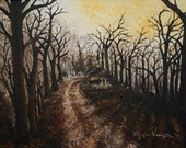 Through the Forest -- original acrylic on canvas painting. http://fineartamerica.com/profiles/monica-veraguth.html for prints.