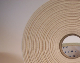 1 inch natural cotton twill tape full 72 yd roll