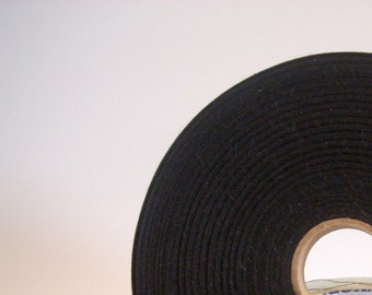 3/4 inch black twill tape,light weight, 10 yards