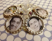 Rat Pack drink charms.  Set of 4.