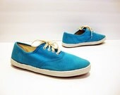 Size 8 Canvas BLUE Tennis Shoes