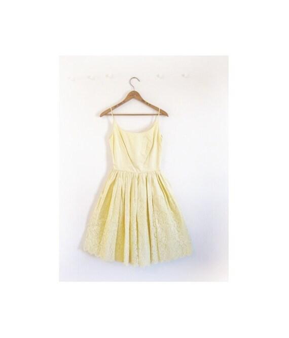 1940s-1950s LACE cotton classic spring dress