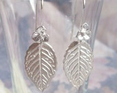 Silver Earrings - PMC Silver - Leaf Design