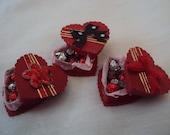 Dolls House Miniatures - Heart shaped Box of Chocolates x1 - Valentines