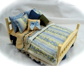 Dolls House Luxury Dressed 112th Double Bed  Primrose