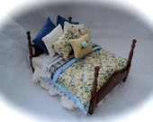 Dolls House Luxury Dressed Double Bed - Daisy