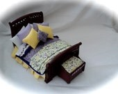 Dolls House Luxury Dressed Double Bed - Imogen