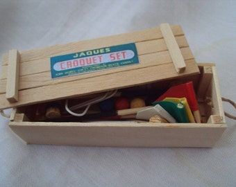 DOLLS HOUSE MINIATURES - 1/12th Croquet Set