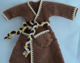 Dolls House 1/12th Dressing Gown - brown