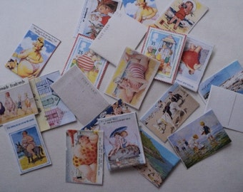 Dolls House Miniatures - 1/12th Seaside Postcards