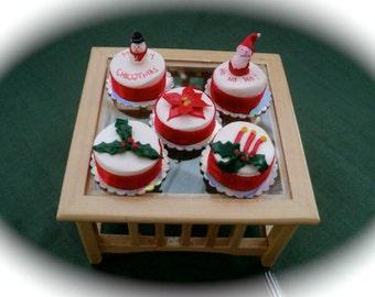 DOLLS HOUSE MINIATURES - 1/12th christmas cake x 1