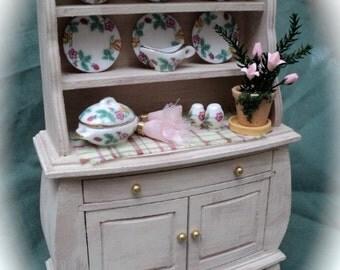 Dolls House Miniatures - Cream Country Kitchen Dresser