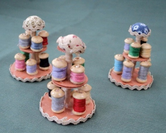 Dolls House Miniatures - Cotton Reel / Bobbin Holder x 1