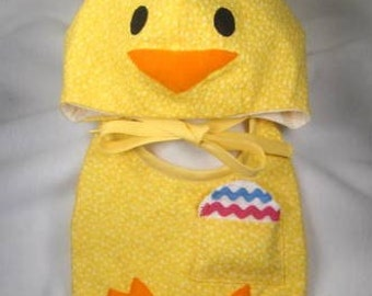 SALE- PDF ePattern-Chick Hat and Bib