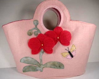 SALE-PDF ePattern-Orchid Keyhole Tote