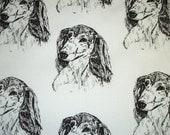 1 yard Dachshund Long Hot Diggity Dog Fabrics Novelty Fabric