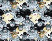 1 yard Silly Sheep Craft Fabric