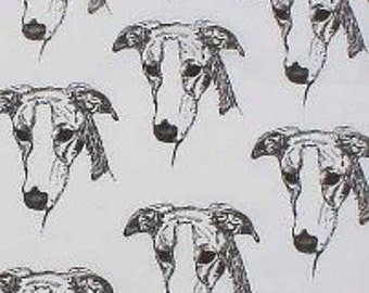 Greyhound Dog Fabric 2 Hot Diggity Dog Fabrics Novelty Fabric 1 yd