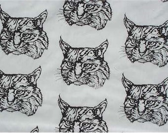 1 yard Bobcat Hot Diggity Dog Fabrics Novelty Fabric