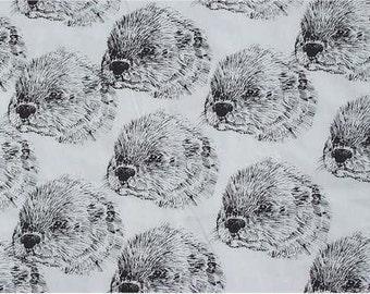 River Otter Fabric by Hot Diggity Dog Fabrics 1 yard
