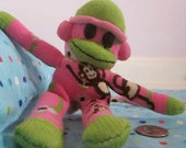 Pink Monkied Sock Monkey