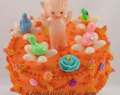 Fake Cake New Baby with Bunny, Ducks and Chicks