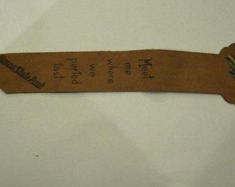 Vintage Leather Bookmark