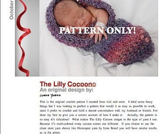 Baby Cocoon Crochet Pattern  INSTANT DOWNLOAD