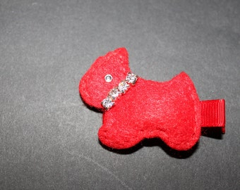 Beautiful Scottie Dog Hair CLippie/non slip/CLEARANCE