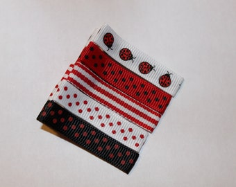 Ladybug Red and Black Hair Clippie Collection/non slip