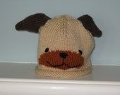 Older Child Knit Doggy Hat