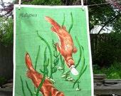 Vintage Platypus Tea Towel Kitchen Australia