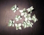 Origami Flowers - Mint Green - Set of 10