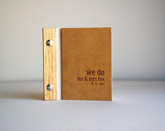Wedding Vows Book. Wood. Custom Engraved. Romantic Keepsake. Modern Bride. Anniversary Gift