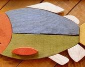 Reclaimed Wood Trout Art