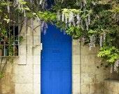 Blue door photography, Jerusalem door,romantic door photography, Door photography of Jerusalem, door print