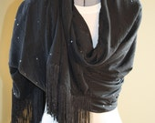 Shawl - Black Sequined