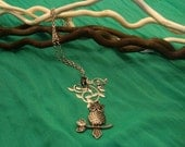 SAVED for ieattofu68- Long Owl Necklace 2