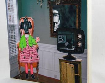 Harriett's favorite show on wood panel