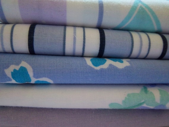 SALE Bed Sheet Fabrics Fat Quarter Bundle Lavender Dreams (5 Pack)