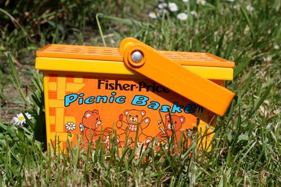 1977 Fisher Price Play Picnic Basket